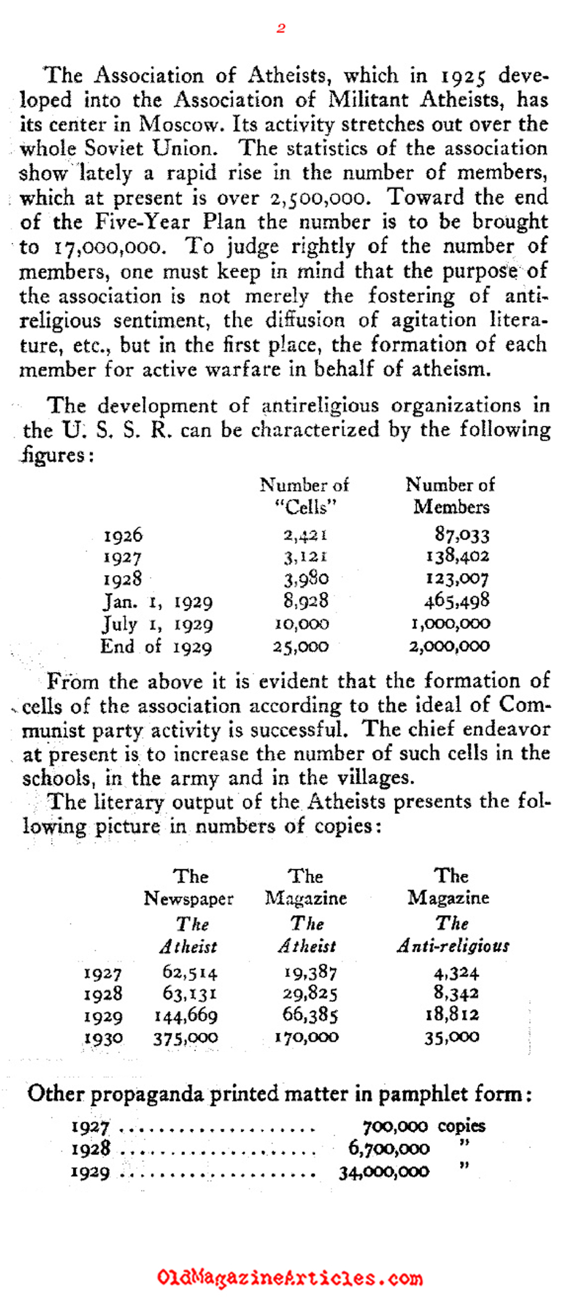 The First Atheist Government (The Commonweal, 1930)